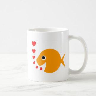 Cute Funny Valentine's Day Goldfish Coffee Mug