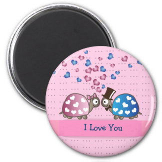 Cute Funny Valentines day Turtles in Love Fridge Magnets