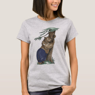 Cute Funny Whimsical Tree Hugging Bear Outdoor T-Shirt