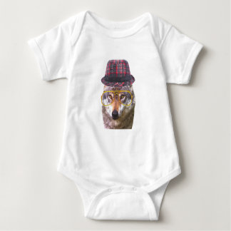Cute funny wolf animal for baby/kids baby bodysuit