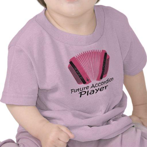Cute Future Accordion Player Baby Tee