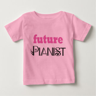 Cute Future Pianist Baby Tee shirt