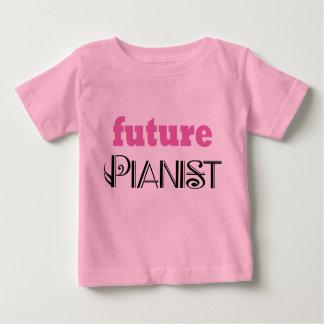 Cute Future Pianist Baby Tee shirt
