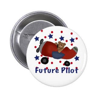 Cute Future Pilot 6 Cm Round Badge