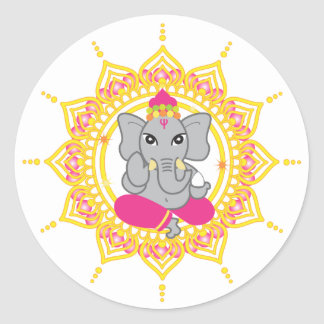 Cute Ganesha labels