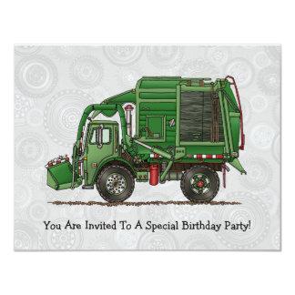 Cute Garbage Truck Trash Truck 11 Cm X 14 Cm Invitation Card
