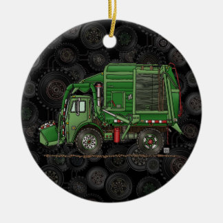 Cute Garbage Truck Trash Truck Christmas Ornament