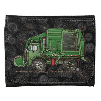 Cute Garbage Truck Trash Truck Leather Wallets