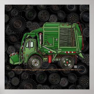 Cute Garbage Truck Trash Truck Poster