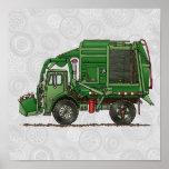 Cute Garbage Truck Trash Truck Print