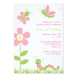 Cute Garden Bugs Invitations