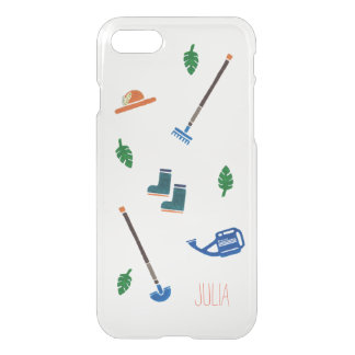 Cute Garden painting iPhone 7, 8 Clearly case