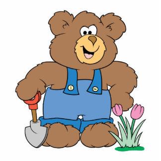 Cute Gardening Bear Photo Sculpture