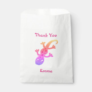 Cute Gecko Lizard Thank You Name Favour Bags