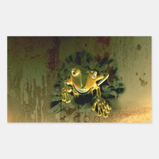 Cute gecko rectangular sticker