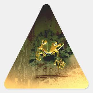 Cute gecko triangle sticker