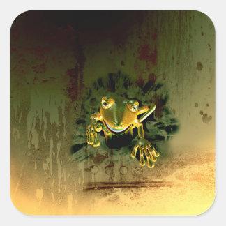 Cute gecko square sticker