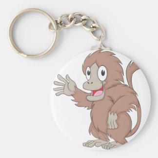 Cute Gelada Brown Monkey Cartoon Shirt Keychain