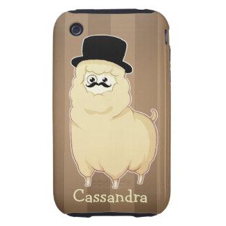 Cute Gentleman Alpaca iPhone 3 Tough Case
