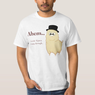 Cute Gentleman Alpaca T-Shirt