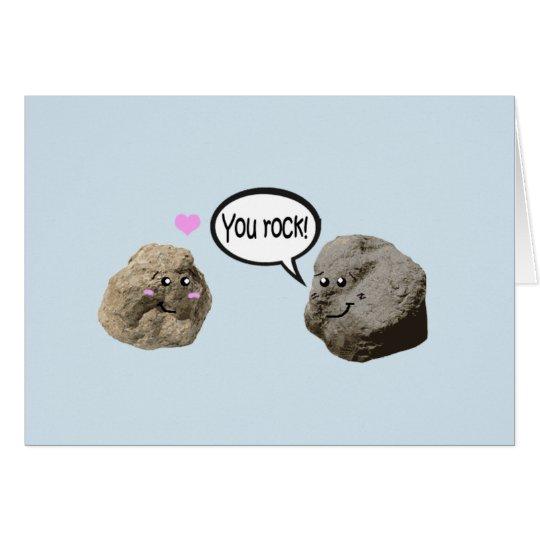 Cute geology love card