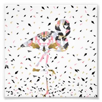 Cute geometric Flamingo abstract design Photo