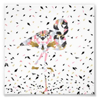 Cute geometric Flamingo abstract design Photo Print