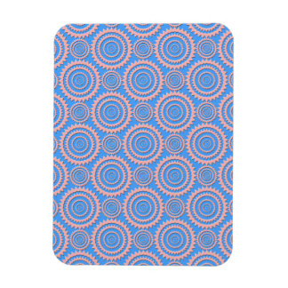 Cute Geometric Pattern Pink Circles over Blue Magnets