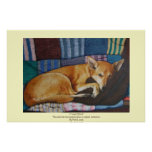 cute german shephard dog cross pet portrait art