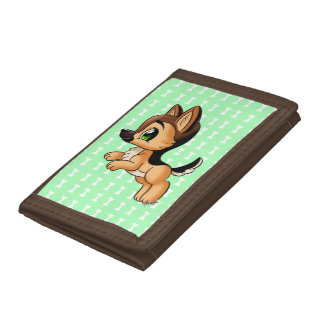 Cute German Shepherd Puppy TriFold Wallet