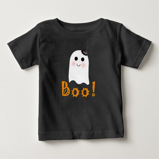 Cute Ghost Boo Happy Halloween Baby Shirt