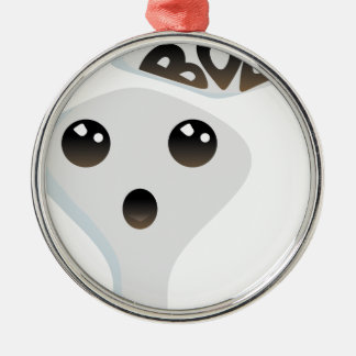 Cute ghost christmas ornament