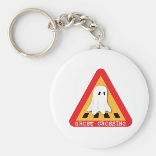 Cute Ghost Crossing Sign Key Chain
