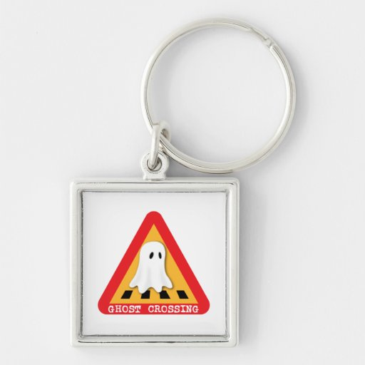 Cute Ghost Crossing Sign Keychains