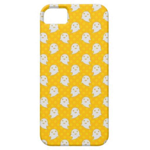 Cute Ghost Halloween Design Yellow Polka Dots iPhone 5 Case