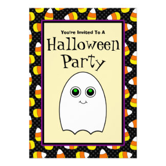 Cute Ghost Halloween Party Invitations