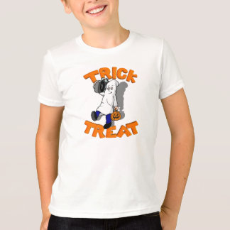 Cute Ghost Trick or Treating with Boom Box T-Shirt