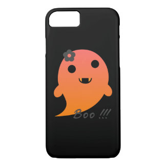 "Cute  Ghost With Flower And Word ""Boo"" iPhone 8/7 Case"