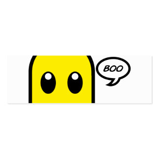 cute ghost  yellow spooky boo Double-Sided mini business cards (Pack of 20)