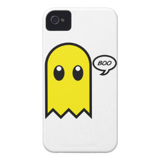 cute ghost  yellow spooky boo iPhone 4 cover