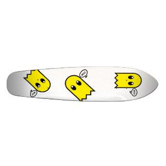 cute ghost  yellow spooky boo skate board