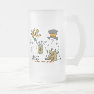 Cute Ghosts Frosted Glass Mug