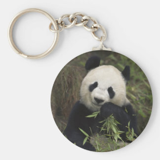 Cute Giant Panda Basic Round Button Key Ring