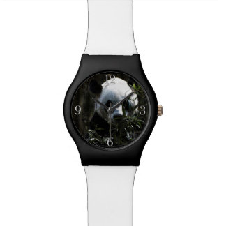 Cute Giant Panda Bear with tasty Bamboo Leaves Watch