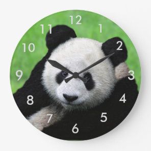 Cute Giant Panda Clock