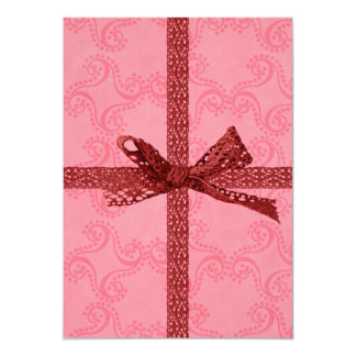Cute Gift Look and Hearts Valentine's Day Birthday 13 Cm X 18 Cm Invitation Card