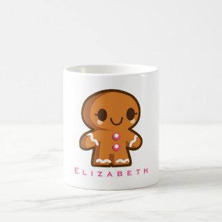 Cute Gingberbread Girl Personalized Coffee Mug