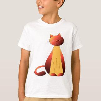 Cute Ginger Cat Art T-Shirt