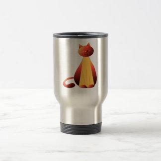 Cute Ginger Cat Art Travel Mug