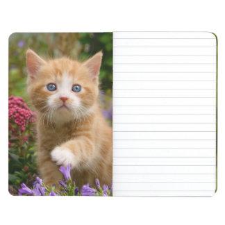 Cute Ginger Cat Kitten in a Garden Photo - Pocket Journal